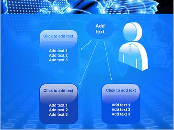 Mapa del Mundo Comunicación Plantillas de Presentaciones PowerPoint - Diapositiva 12