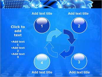 Mapa del Mundo Comunicación Plantillas de Presentaciones PowerPoint - Diapositiva 14