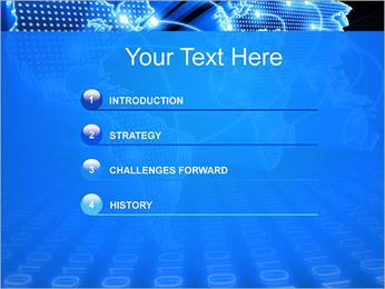 Mapa del Mundo Comunicación Plantillas de Presentaciones PowerPoint - Diapositiva 3