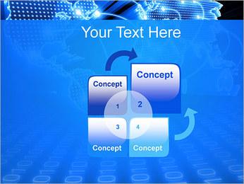 Mapa del Mundo Comunicación Plantillas de Presentaciones PowerPoint - Diapositiva 5