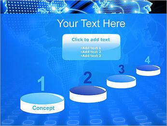 Mapa del Mundo Comunicación Plantillas de Presentaciones PowerPoint - Diapositiva 7