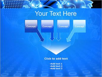Mapa del Mundo Comunicación Plantillas de Presentaciones PowerPoint - Diapositiva 8