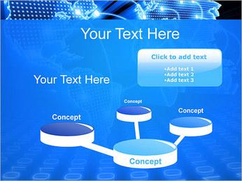 Mapa del Mundo Comunicación Plantillas de Presentaciones PowerPoint - Diapositiva 9