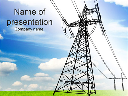 High Voltage Lines Powerpoint Template Amp Backgrounds Id