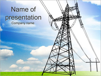 High-Voltage Lines PowerPoint Template