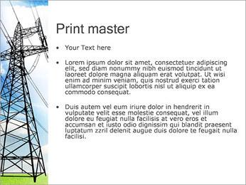 Linhas de alta tensão Modelos de apresentações PowerPoint