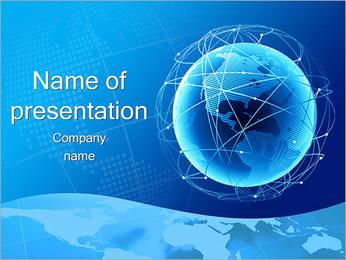 Globe i Web PowerPoint presentationsmallar