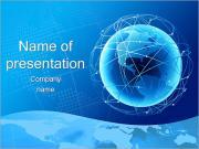 Глобус в Web Шаблоны презентаций PowerPoint