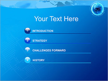 Globo en Web Plantillas de Presentaciones PowerPoint - Diapositiva 3