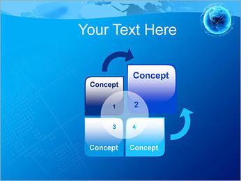 Globo en Web Plantillas de Presentaciones PowerPoint - Diapositiva 5
