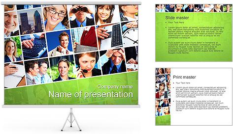 Gente de negocios Set Plantillas de Presentaciones PowerPoint