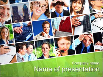 Gente de negocios Set Plantillas de Presentaciones PowerPoint - Diapositiva 1