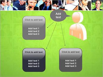 Gente de negocios Set Plantillas de Presentaciones PowerPoint - Diapositiva 12