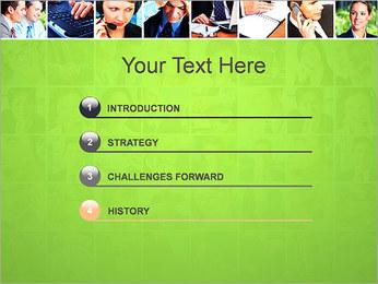 Gente de negocios Set Plantillas de Presentaciones PowerPoint - Diapositiva 3
