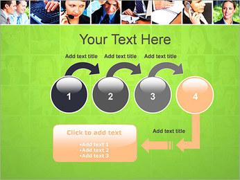 Gente de negocios Set Plantillas de Presentaciones PowerPoint - Diapositiva 4