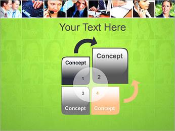 Gente de negocios Set Plantillas de Presentaciones PowerPoint - Diapositiva 5