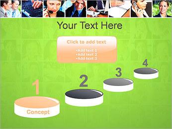 Gente de negocios Set Plantillas de Presentaciones PowerPoint - Diapositiva 7