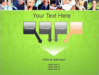 Gente de negocios Set Plantillas de Presentaciones PowerPoint - Diapositiva 8