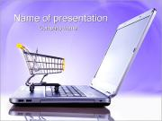 Laptop and Shopping Cart PowerPoint Templates