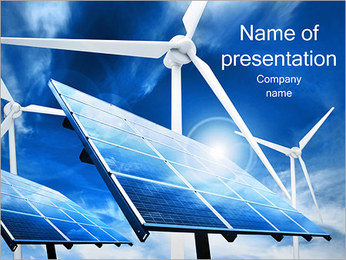 Sun Power and Wind PowerPoint Template