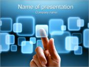 Touch Screen Interface Sjablonen PowerPoint presentaties