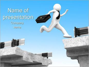 Empresário Jumping Modelos de apresentações PowerPoint