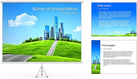 Conceito Cidade Verde Modelos de apresentações PowerPoint