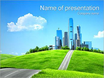 Conceito Cidade Verde Modelos de apresentações PowerPoint - Slide 1