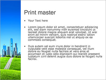 Conceito Cidade Verde Modelos de apresentações PowerPoint - Slide 24