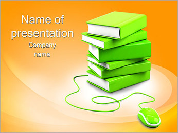 E-Book Concept PowerPoint Template - Slide 1