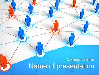 Pessoas Network Concept Modelos de apresentações PowerPoint