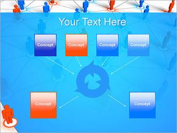 Concepto de red Plantillas de Presentaciones PowerPoint - Diapositiva 10