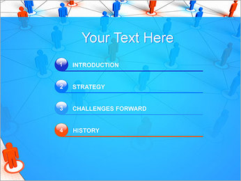 Concepto de red Plantillas de Presentaciones PowerPoint - Diapositiva 3
