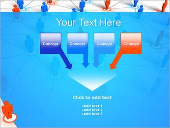 Concepto de red Plantillas de Presentaciones PowerPoint - Diapositiva 8