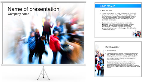 Moving Crowd PowerPoint Template