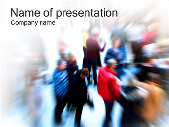 Moving Crowd PowerPoint Template - Slide 1