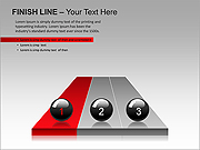 Finish Line PPT Diagrams & Chart