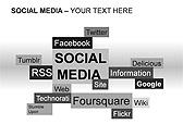 Social Media Set PPT Diagrams & Chart - Slide 11