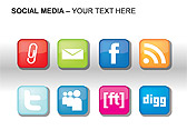 Social Media Set PPT Diagrams & Chart - Slide 17