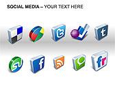 Social Media Set PPT Diagrams & Chart - Slide 18