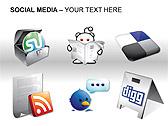 Social Media Set PPT Diagrams & Chart - Slide 19