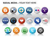 Social Media Set PPT Diagrams & Chart - Slide 20