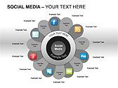 Social Media Set PPT Diagrams & Chart - Slide 3