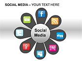 Social Media Set PPT Diagrams & Chart - Slide 4