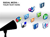 Social Media Set PPT Diagrams & Chart - Slide 9