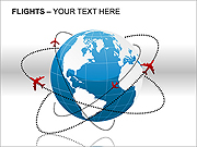 Flights PPT Diagrams & Charts
