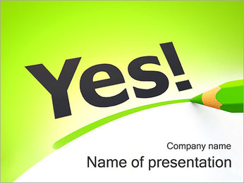 Yes Word PowerPoint Template