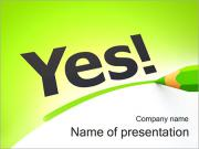 Yes Word PowerPoint Templates