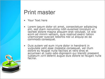 Green Lock with Key PowerPoint Templates - Slide 24