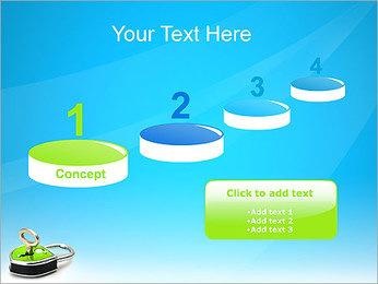 Green Lock with Key PowerPoint Template - Slide 7